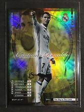 2016-17 Panini WCCF MVP Cristiano Ronaldo Real Madrid Gold Refractor card RARE