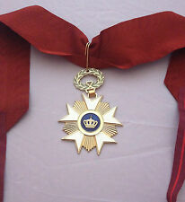 MUSEUM QUALITY BELGIAN ROYAL ORDER OF THE CROWN WITH NECK RIBBON 1897