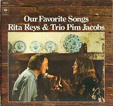 "RITA REYS / PIM JACOBS TRIO ""OUR FAVORITE SONGS"" VOCAL JAZZ LP 1973 CBS S65620"