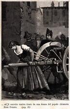 MESSINA: MOTI DEL 1848: ROSA DONATO E IL SUO CANNONE. Sicilia. Risorgimento.1885