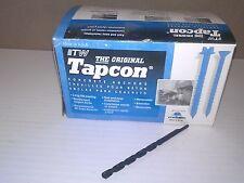 """NEW W/BIT 3/16"""" x 3-1/4"""" PH FLAT HEAD  ITW Tapcon RED HEAD Screws 100/box"""