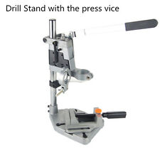 Electric Drill Stand Bench Drill Press Stand Double Clamp  with Drill Press Vice
