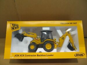 JOAL JCB 3CX 1:25 CONTRACTOR BACKHOE LOADER JCB 3CX RARE MODEL PERKINS ENGINE