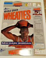 Vintage 1989 General Mills Wheaties Flat Empty Box featuring Michael Jordan