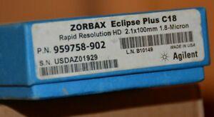 New in Box Agilent ZORBAX RRHD Eclipse Plus C18 Column 959758-902