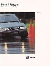 SAAB 900 Form Function Prospekt Buch Katalog 1994 ++++++++++++++++++++++++++++++