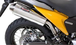 Honda XL700V Transalp 2008-12 Bos GTS Series Stainless Slip on Silencer Exhaust