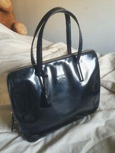 Prada Authentic Vintage Patent Leather Padlock key Tote medium Bag Handbag bolsa