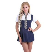 2 Piece Sexy Women's School Girl Cosplay Fancy Dress Up Uniform Outfit Costume