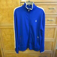 Men's Polo Ralph Lauren full zip cotton jacket royal blue white size M NWT $115