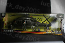 World Peacekeepers Chinese Army Black Hawk Helicopter & 4 Figures 1/18