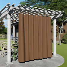 Outdoor Curtains Tab Top Privacy Protect Blackout Waterpoof Drapes - 1 Panel