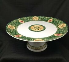 Georges Briard Victorian Christmas Pattern Footed Pedestal Cake Plate