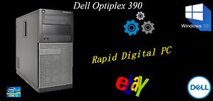 Dell OptiPlex 390 i3-2120 8Gigs 200Gig HDD Windows 10 Pro 64x