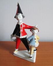 Vintage Hollohaza Hungary Clown Pierrot Figurine 1831 Hand Painted Porcelain