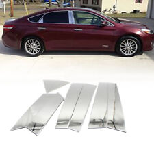 8* Window Middle Chrome Pillar Posts Cover Trim For 2013-2015 Nissan ALTIMA UPS