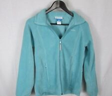Girls Columbia full zip fleece  jacket 14-16  blue-green