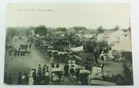 1907 Adrian Michigan Postcard State Town Fair View Buggies Tents Lewisburg Ohio