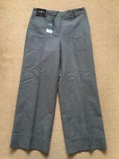 NEXT Tailoring Women's Cotton Linen Grey Wide Crop Trousers, UK12R, L31, £36