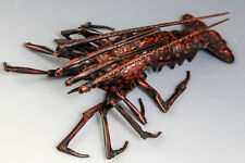 Japanese Copper Lobster Figure Ornament By HIROMI 弘美 #1801