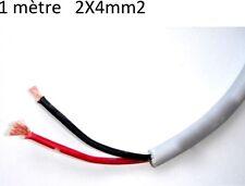2X4mm2 câble souple batterie 12 à 300volts  rouge et noir, solaire, bateau 1m