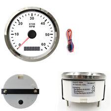 85mm Car Truck Tacho Gauge RPM Tachometer W/Hour Meter 0-6000RPM Blue Backlight