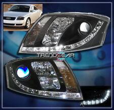 1999-2007 AUDI TT DRL LED PROJECTOR HEADLIGHT LAMP BLACK QUATTRO DAYTIME RUNNING