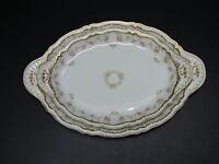 Haviland Limoges Schleiger 598 Double Gold Floral Oval Serving Platters/Set of 2
