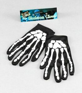 Skeleton Gloves Bone Print Adult/Kids Halloween Fancy Dress Accessory Unisex