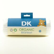 DK Organic Cotton Cellular Pram/Crib Blanket. 75x100cm. Bargain SECONDS