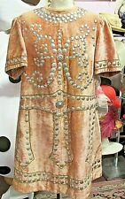 "Pink Velvet Vintage Freemason Lodge Jacket 42"" Chest Measure / Metal Details"