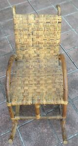 CANE CHILDS ROCKING CHAIR USE AS PROP OR PUTTING ANTIQUE DOLLS IN