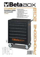 CARRELLO CASSETTIERA MOBILE PORTAUTENSILI 6 CASSETTI BETA C04 BOX NERO (VUOTO)