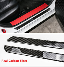 2×60 cm Universal Carbon Fiber Car Door Scuff Plate Cover Panel Protect Trim