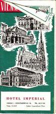 Vienna Hotel Imperial Austria Vintage Travel Tourism Brochure Map Old Ads 1956