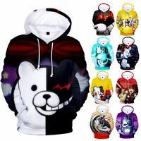 Danganronpa Monokuma Hoodie Sweater Jacket Coat Hooded Sweatshirt Cosplay