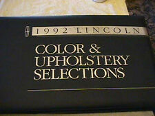 SCARCE 1992 LINCOLN DEALER COLOR AND UPHOLSTERY SHOWROOM ALBUM
