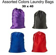 Laundry Bag Heavy Duty Sized Nylon Hamper Drawstring Great for College 30 x 40