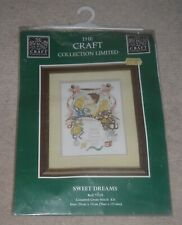 THE CRAFT COLLECTION COUNTED CROSS STITCH KIT SWEET DREAMS BABY SAMPLER BIRTH