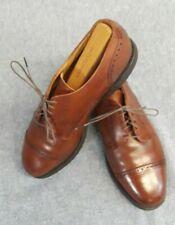 Allen Edmonds Men's Sz 8E Brown Leather Cap-Toe Brogue Shoes