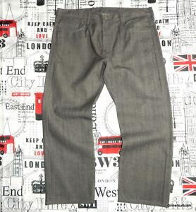 NEW mens *38-40W 30L Levi's 569 Jeans Loose Straight Fit / Grey Raw Denim