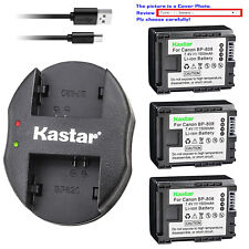 Kastar Battery Dual Charger for Canon BP-808 BP808 Battery Canon CG-800 Charger