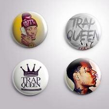 4 FETTY WAP TRAP QUEEN -  Pinbacks Badge Button 25mm 1''