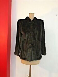 MINK FUR Jacket Short Coat Vintage MINT Condition & excellent Cut S-M fits 10-12