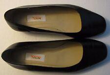 Talbots 8WW Black Leather Flat Ballet Flats Shoes