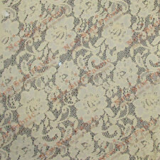 Lace Floral Design 217 Fabric 56 inches width sold by the yard Champagne