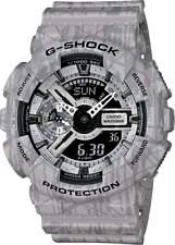 Casio G Shock GA110SL-8A Men's Ana-Digi Alarm Chronograph Slash Print Grey Watch