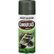 Rust-Oleum Camouflage Ultra Flat Spray Paint Deep Forest Green 340g X 2 Value PK