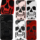 For Apple iPhone XS Max SKULL Hard Hybrid Dual Layer Rubber Case Phone Cover