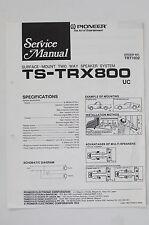 Pioneer ts-trx800 2 Way haut-parleur système manuel de